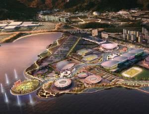 Projeto do Parque Olímpico em Jacarepaguá para Rio-2016 apresentado por escritório inglês