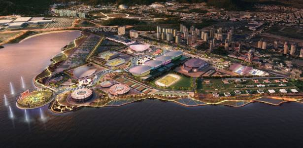 Projeto do Parque Olímpico em Jacarepaguá para a Rio-2016, apresentado por escritório inglês