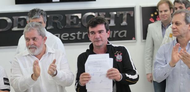 Ex-presidente do Corinthians ainda chamou ex-presidente Lula de 'ídolo'