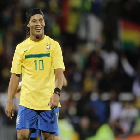 Ronaldinho durante partida da seleção brasileira contra Gana, em 2011 - Mowa Press/Divulgação