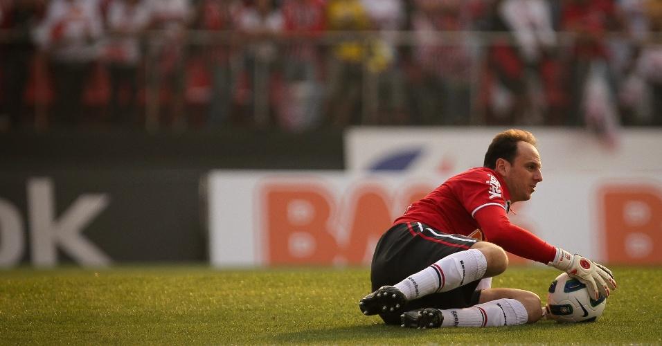 Defesa fácil de Rogerio Ceni - São Paulo x Atlético-MG - Brasileirão-2011 (07/09/2011)