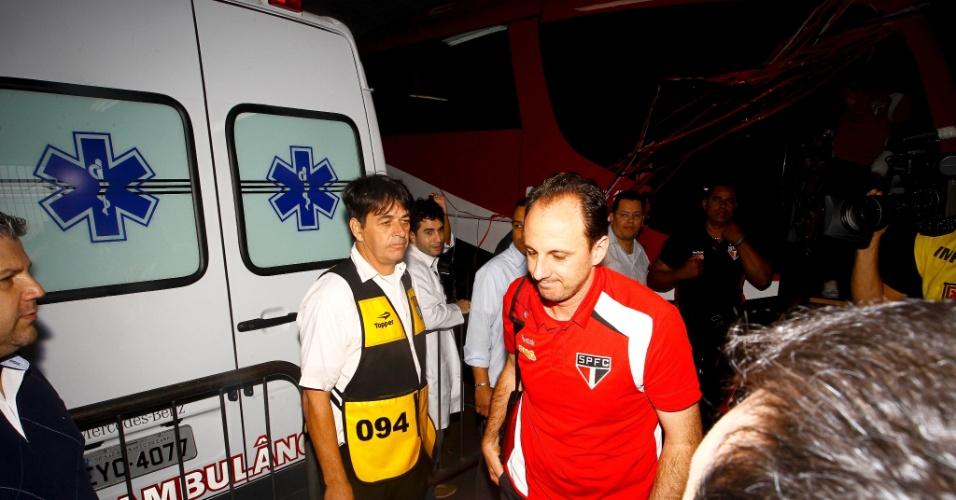Delegação e Ceni desembarcam no Morumbi - São Paulo x Atlético-MG - Brasileirão-2011 (07/09/2011)