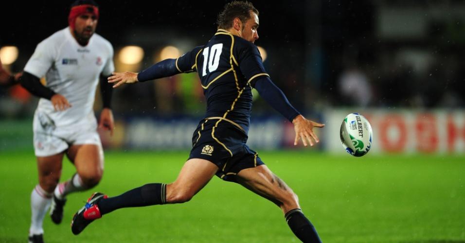 O escocês Dan Parks durante o jogo contra a Georgia pela Copa do Mundo de Rugby