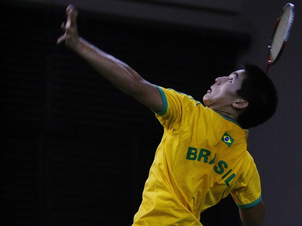 Alex Tjong, da Selecao brasileira de badminton