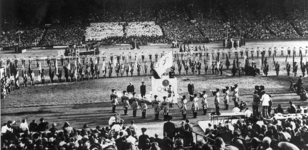 Cerimônia de encerramento dos Jogos de Londres-1948, os primeiros após a Segunda Guerra Mundial