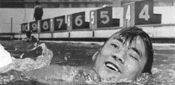O japonês Tetsuo Okamoto conquistou a medalha nos 1.500 m da natação na Olimpíada de Helsinque