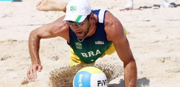 Apesar do esforço, a dupla Márcio (foto) e Fábio Luiz não conseguiu bater os norte-americanos e ficaram com a medalha de prata