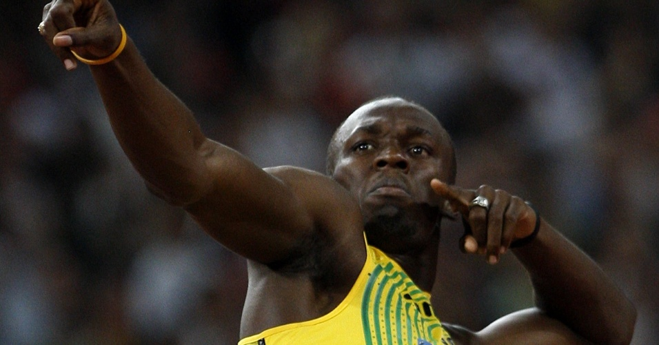 O velocista jamaicano Usain Bolt, apelidado de