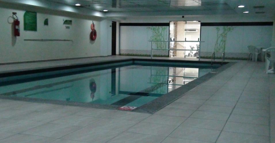 (27/09/2011) Vista da piscina do centro fisioterápico do goleiro Marcos, do Palmeiras