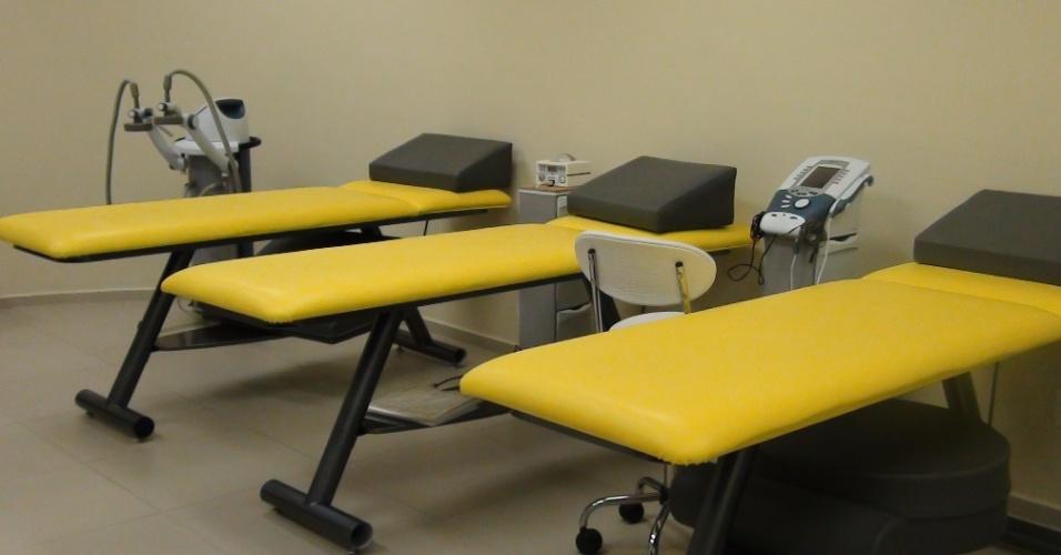 (27/09/2011) Vista da sala de fisioterapia do centro do goleiro Marcos, do Palmeiras