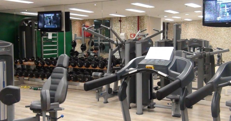 (27/09/2011) Vista da sala de musculação do centro de fisioterapia do goleiro Marcos, do Palmeiras