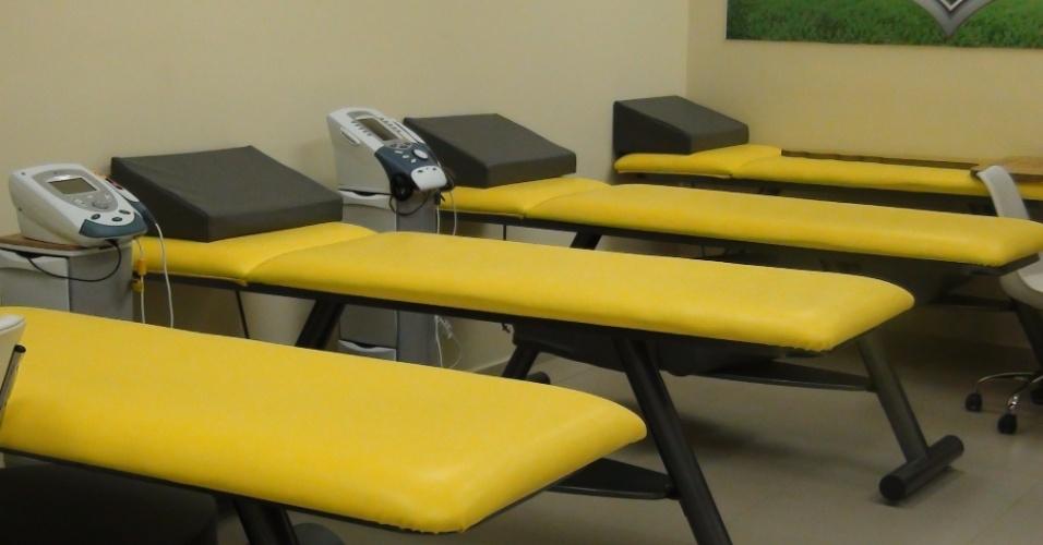 (27/09/2011 Vista geral da sala de fisioterapia do centro do goleiro Marcos, do Palmeiras