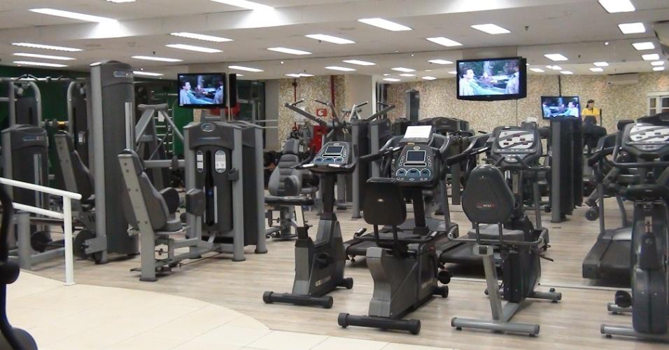 (27/09/2011) Vista geral da sala de ginástica do centro de fisioterapia do goleiro Marcos, do Palmeiras