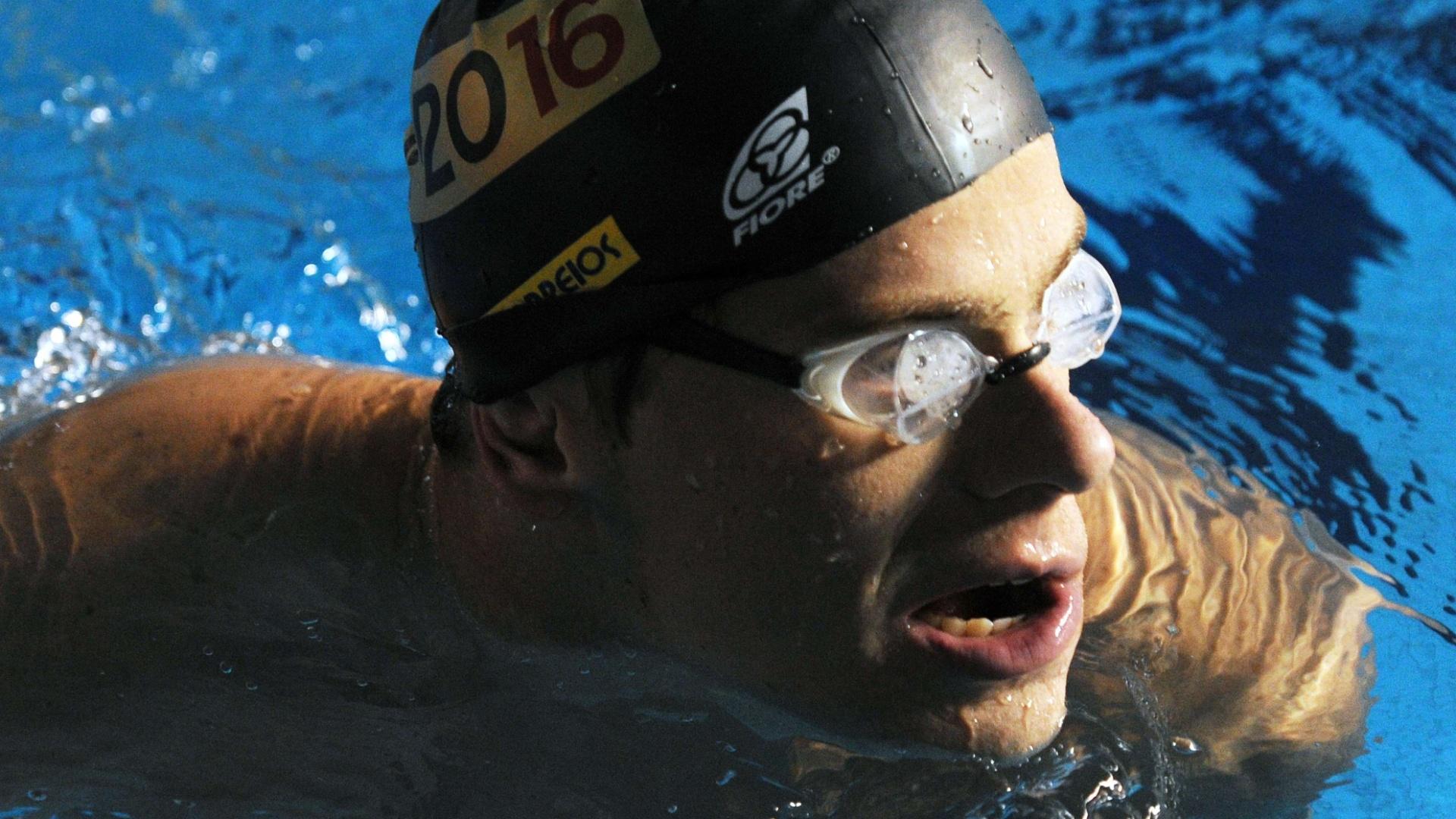 César Cielo é a principal esperança da natação brasileira no Pan (12/10/2011)