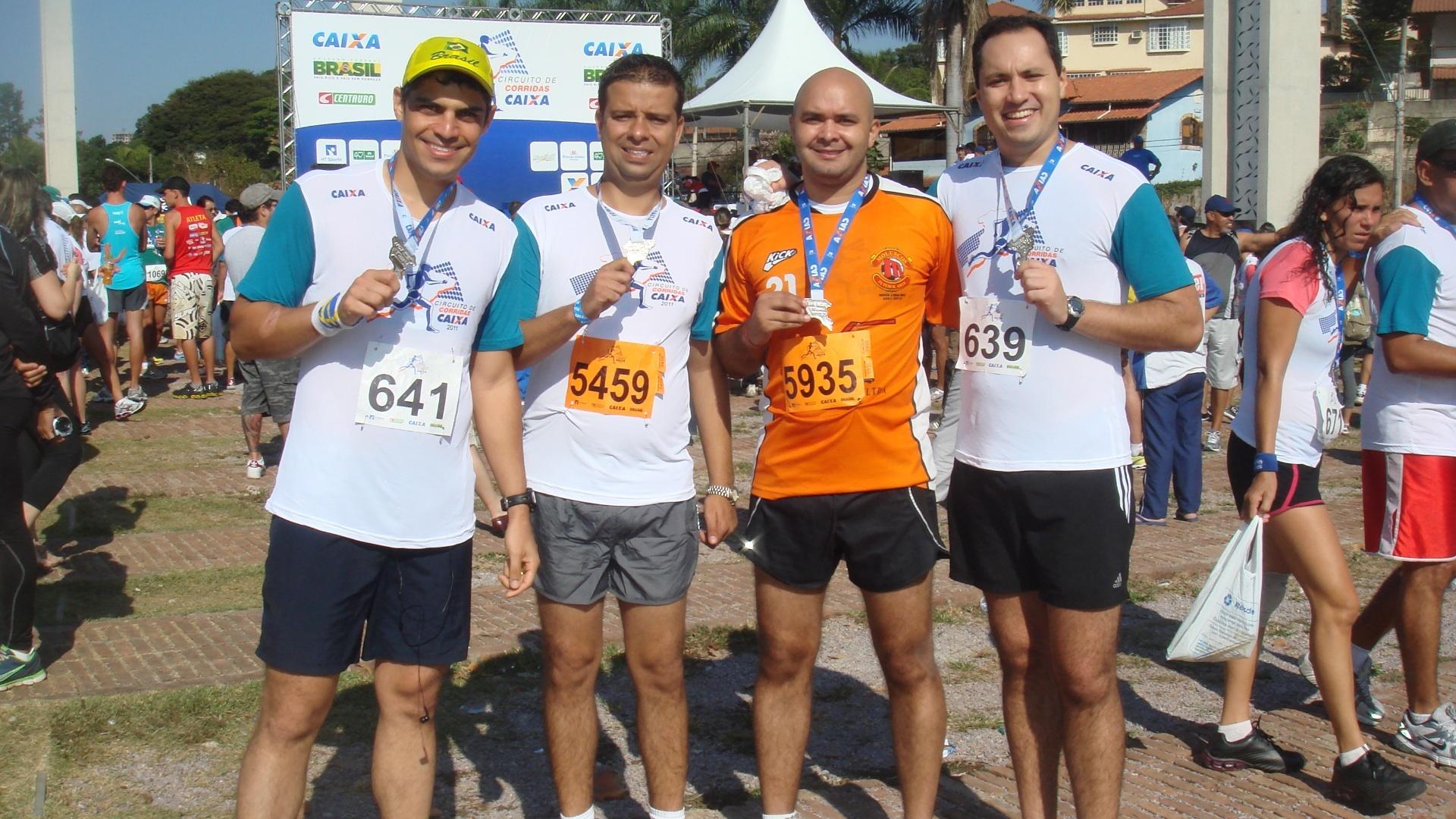 Você Manda: Daniel DanDan e seus amigos Tatá, Daurilton e Bruno Fogli em mais uma corrida de rua na Lagoa da Pampulha, em Belo Horizonte (MG)