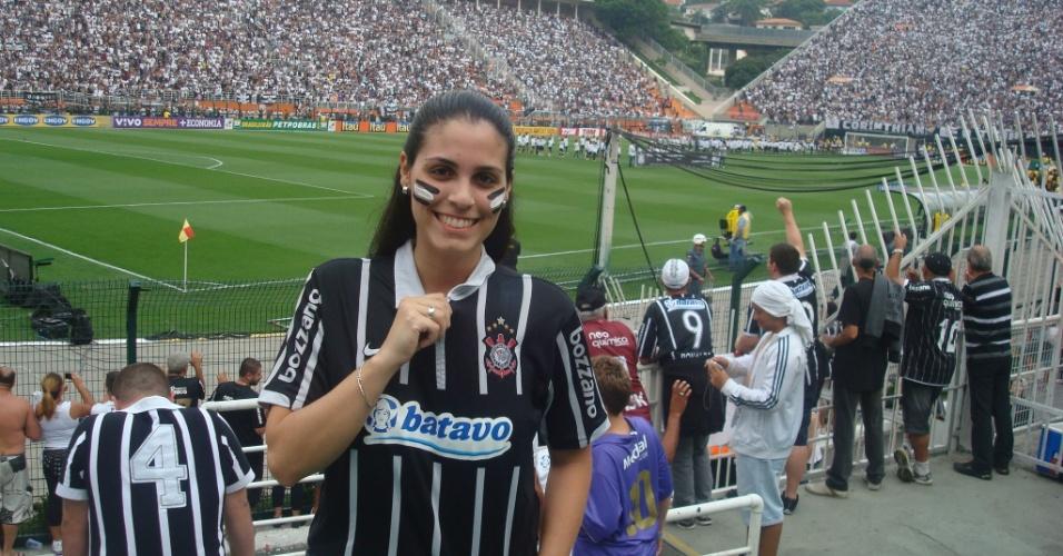 Beatriz Carotenuto Mancini comemora no Pacaembu