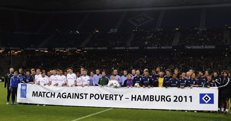Ronaldo e Zidane entram em campo contra destaques do Hamburgo para arrecadar fundos e ajudar países africanos