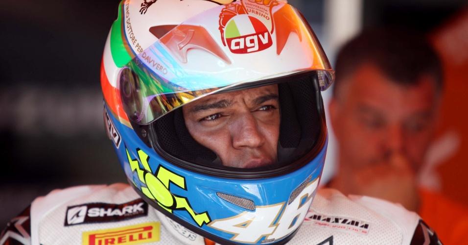 Denílson se prepara em Interlagos para duelar com Cafu emmotos de 1000 cc