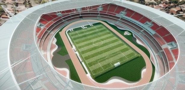 Imagem mostra projeção de como ficará o estádio após a reforma - Divulgação