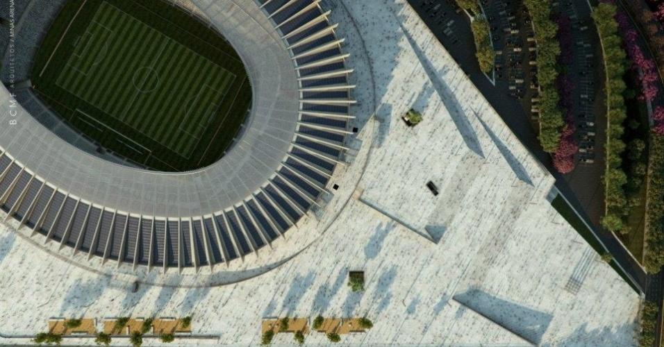 Vista do Mineirão, que terá capacidade para 65 mil pessoas