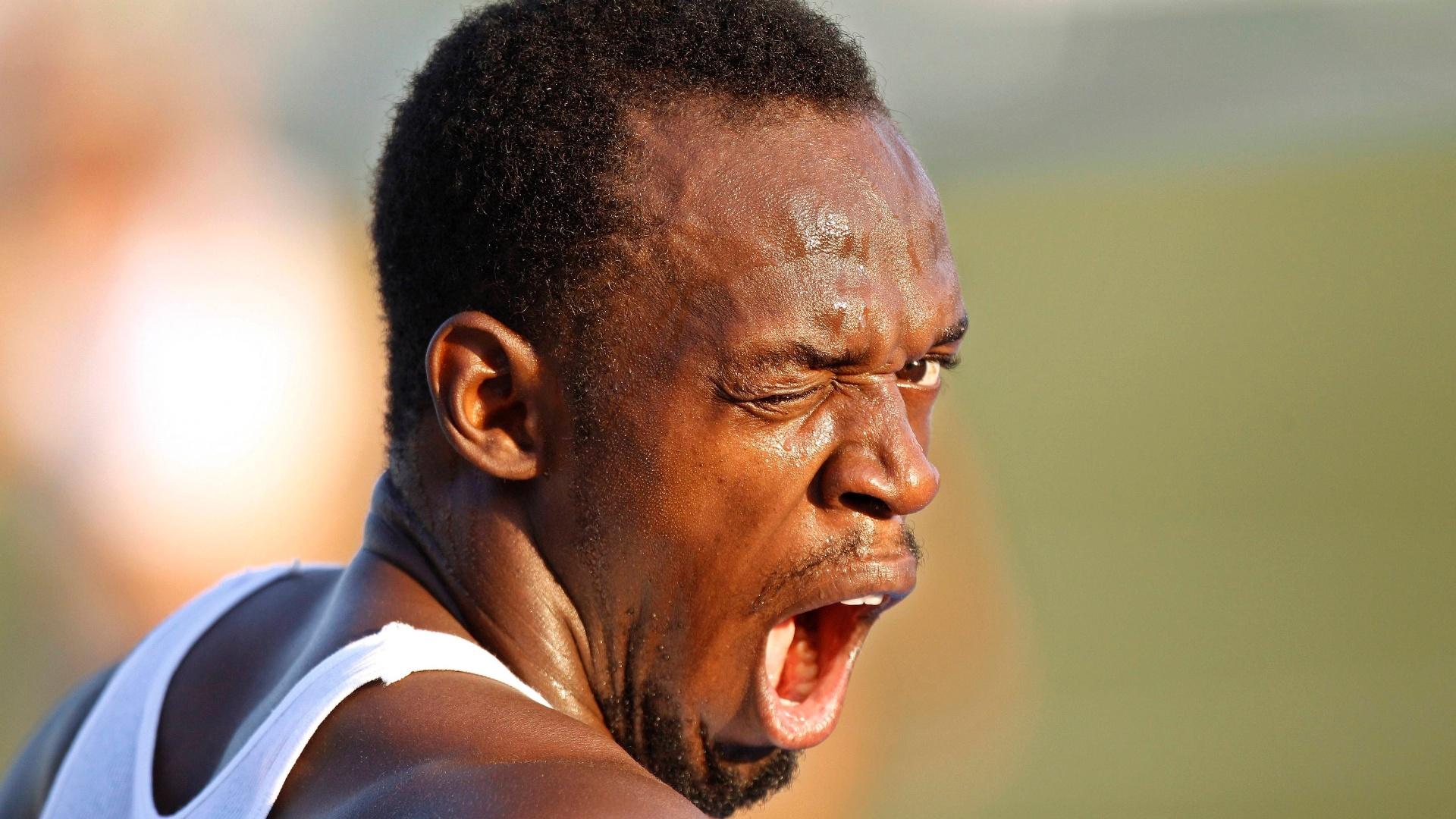 O jamaicano Usain Bolt em treino em Daegu (Coreia do Sul) para o Mundial de atletismo (31/8/2011)