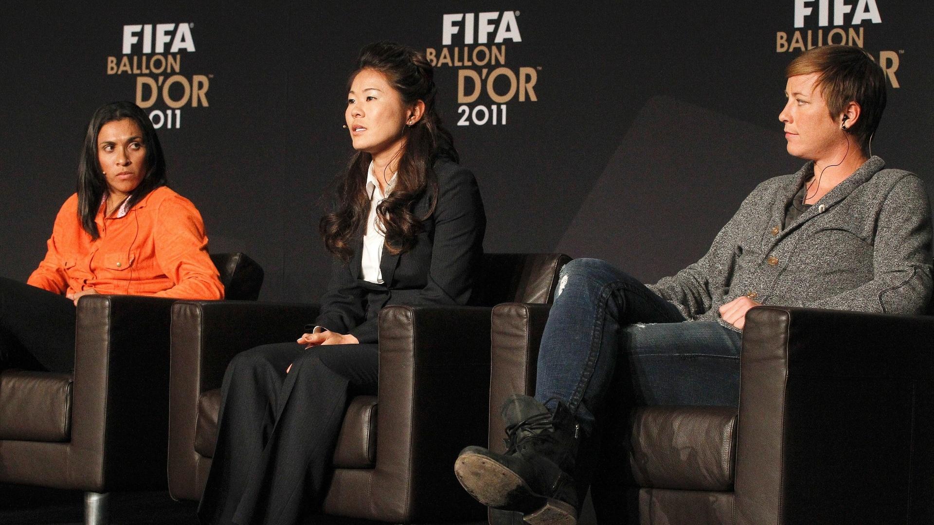 Marta, Homare e Abby são indicadas ao Bola de Ouro da Fifa. A brasileira foi superada por Homare Sawa na eleição de melhor do mundo