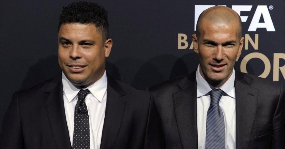 Três vezes vencedores, Ronaldo e Zidane compareceram à Bola de Ouro da Fifa