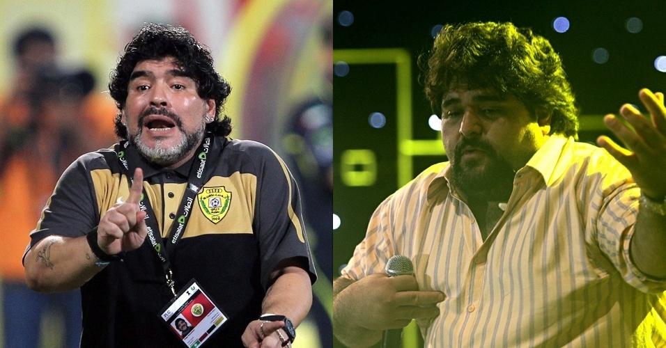 Maradona bailava nos campos, e o cantor Fabiano põe o público pra dançar