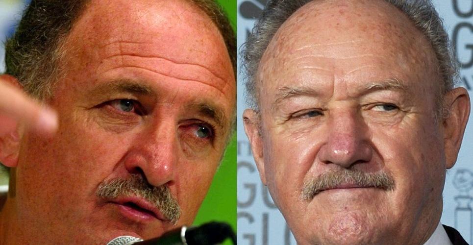 O bigodinho é a marca registrada de Felipão e Gene Hackman