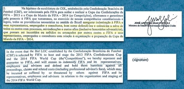 Versões em português e inglês da Garantia 10; Advogado Geral assinou só a primeira
