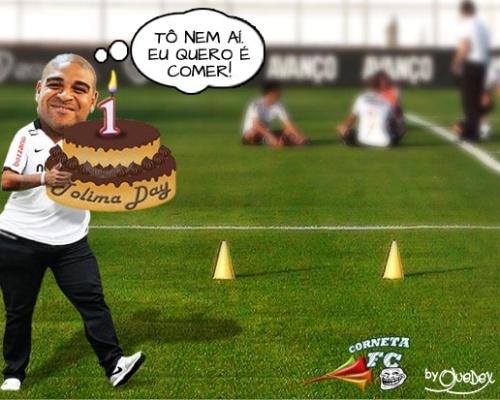 Corneta FC: charge mostra a participação de Adriano no #TolimaDay