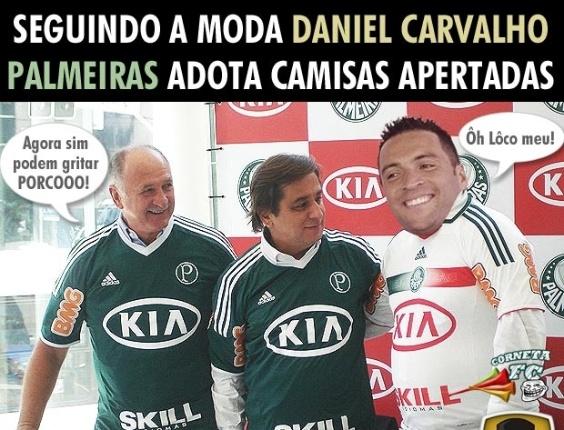 Corneta FC: Seguindo a moda D. Carvalho, Palmeiras adota camiseta apertada