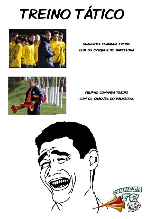 Corneta FC: Treino tático com os craques do Palmeiras