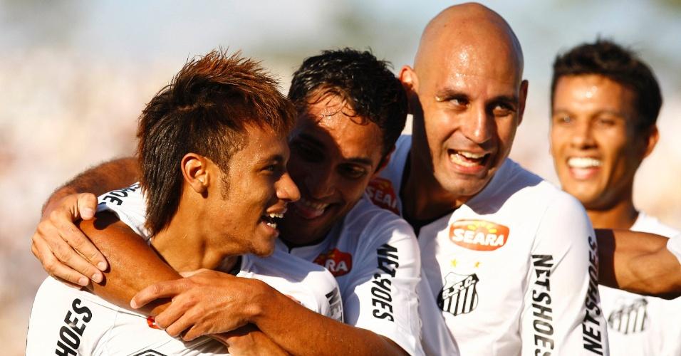 Neymar marca 100º gol no dia do aniversário de 20 anos, mas Palmeiras estraga a festa e vence de virada por 2 a 1 (05/02/2012)