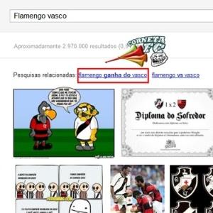 Cartola FC: Google sugere que o Vasco é freguês do Flamengo