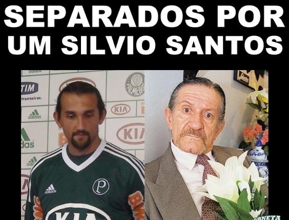 Corneta FC: Hernán Barcos e Pedro de Lara separados por um Silvio Santos