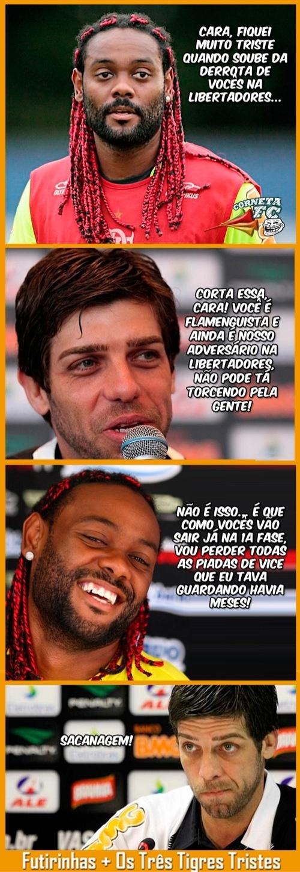 Corneta FC: Love tira sarro de Juninho por derrota na Libertadores