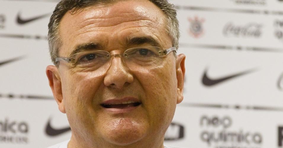 Mario Gobbi concede entrevista coletiva após ser eleito novo presidente do Corinthians
