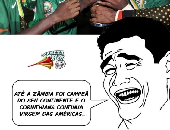 Corneta FC: Até a Zâmbia já ganhou um título continental... E o Corinthians nada!