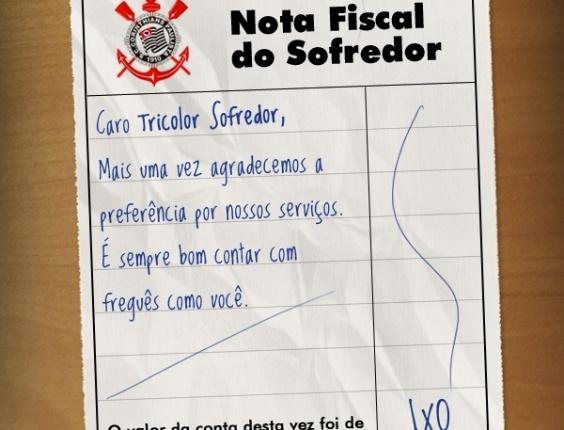 Corneta FC: Nota fiscal do são-paulino sofredor