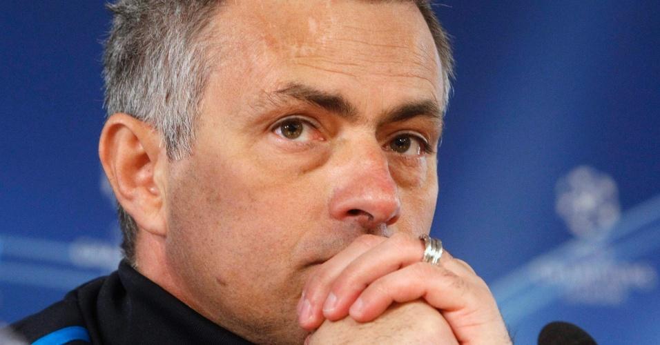 José Mourinho, técnico do Real Madrid, concede entrevista coletiva em Moscou