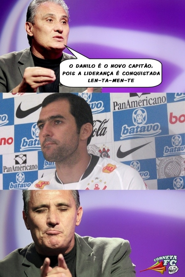 Corneta FC: Novo capitão, Danilo é cornetado por Tite