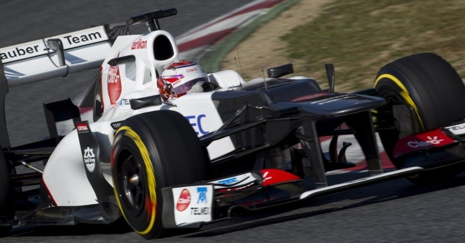 Kamui Kobayashi teve um bom desempenho nos testes em Barcelona