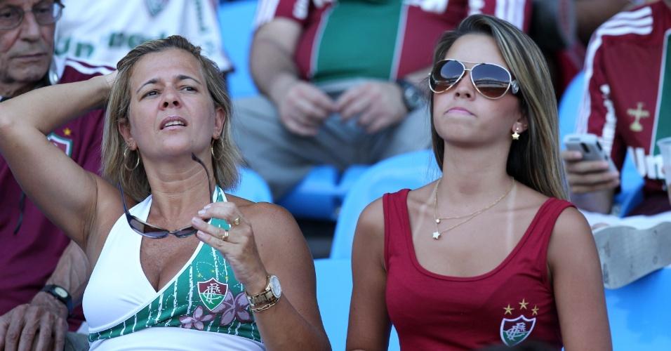 Torcedoras do Fluminense foram ao Engenhão ver a final contra o Vasco