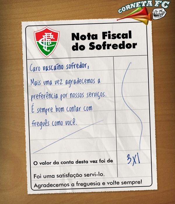 Corneta FC: Nota fiscal do vascaíno sofredor