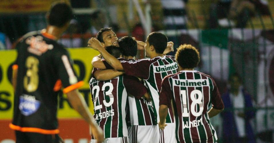 Rafael Sóbis abriu o placar a favor do Fluminense contra o Nova Iguaçu