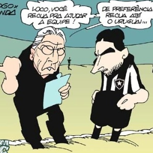 Corneta FC: Descobriram um jeito de o Loco Abreu ajudar o Botafogo