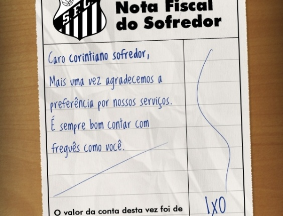 Corneta FC: Envie a nota fiscal para seu amigo corintiano freguês