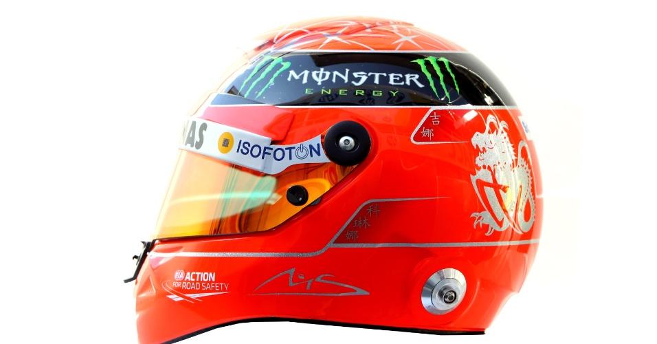 Michael Schumacher, da Mercedes, número 7