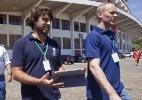 Instalação da membrana de cobertura do Beira-Rio - Wesley Santos/Agência PressDigital